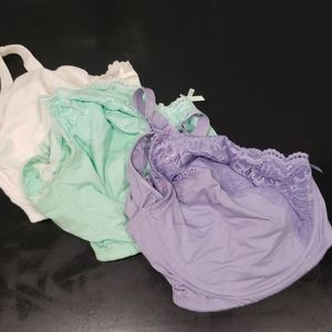 Like new nursing bras. Ivory, mint and lilac